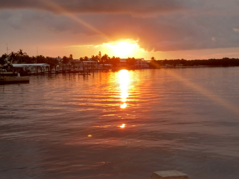 Sunset from dock