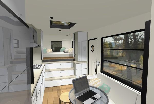 t vs r tiny house interior