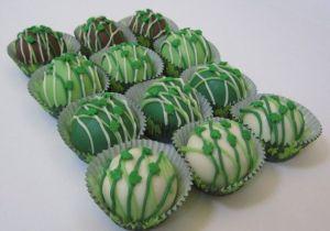 st patricks day cake balls