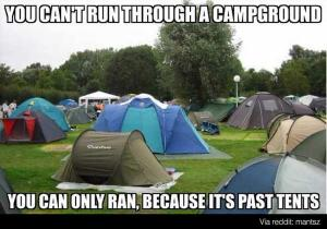 Camping past tense